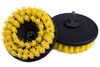 "Upholstery Cleaning Brush Drill Attachment | 5"" Yellow Medium"