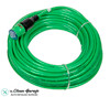 The Clean Garage 100' 12/3 SJTW Pro Lock Locking Lighted Extension Cord Green