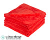 The Clean Garage Ultra Plush Edgeless 500 GSM Microfiber Detailing Towel Red | 20 Pack
