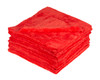 Ultra Plush Edgeless 500 GSM Microfiber Detailing Towel Red | 20 Pack