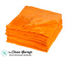 The Clean Garage Ultra Plush Edgeless 500 GSM Microfiber Detailing Towel Orange | 20 Pack