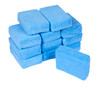 12 Pack Blue Microfiber Applicator Pad | Wax Sealant Coatings Dressings