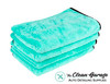"The Clean Garage Ultra Plush Twist Loop Drying Towel Mint Green | 35"" x 29"" 