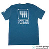 Save The Manuals T-Shirt | Heather Deep Teal Shirt