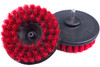 "Carpet Cleaning Brush Drill Attachment | 5"" Red Stiff"