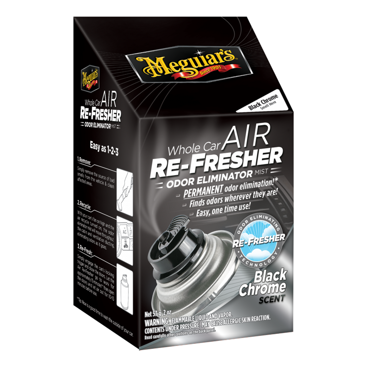 Car Odor Eliminator >> Meguiar S Whole Car Air Refresher Odor Eliminator Black Chrome