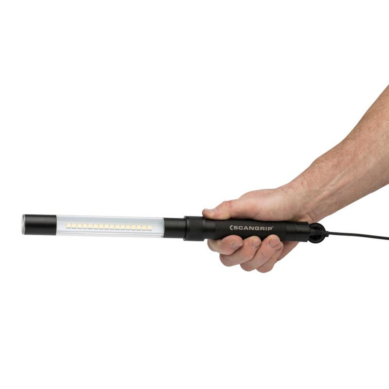 Scangrip LINE LIGHT R Akku LED Arbeitsleuchte Inspektion Stablampe Handlampe