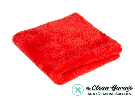 The Clean Garage Ultra Plush Edgeless 500 GSM Microfiber Detailing Towel Red | Korean