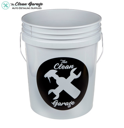 The Clean Garage 5 Gallon Bucket   Gray   Optional Insert and Lid