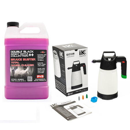IK Foam Pro 2 & P&S Brake Buster 1 Gallon Wheel & Tire Cleaner Combo