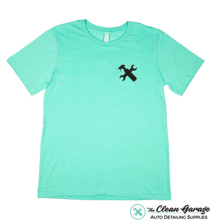 Minty Clean Logo T-Shirt | Mint Heather Black Ink Detailing Shirt