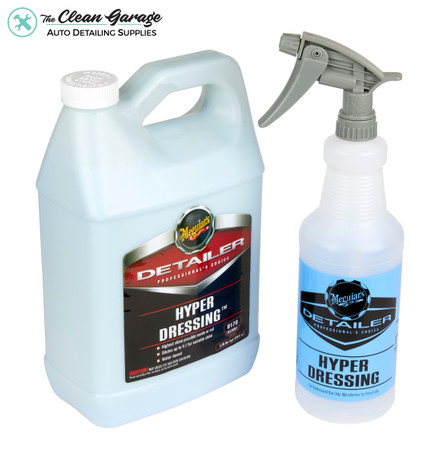 The Clean Garage Meguiars D170 Hyper Dressing Kit | 1 Gallon & 32oz Spray Bottle