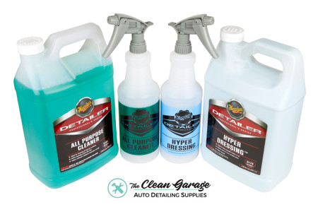 The Clean Garage Meguiars Tire & Engine Cleaning Kit | D170 Hyper Dressing D101 APC