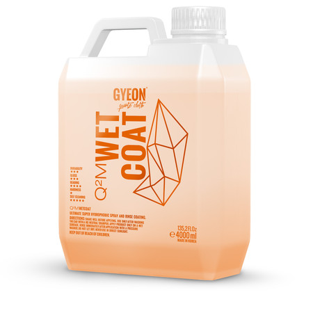 GYEON Q2M WetCoat 4000ml - Hydrophobic Booster Spray & Rinse