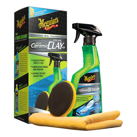 Meguiar's Hybrid Ceramic Quik Clay and Ceramic Detailer Kit