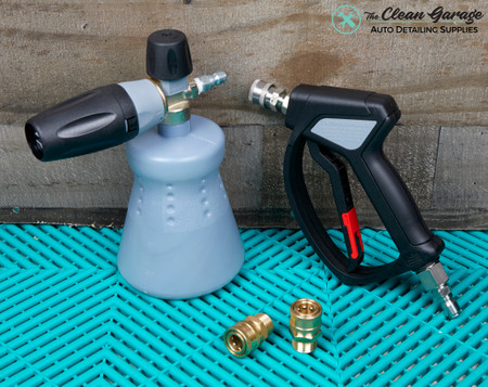 The Clean Garage MTM PF22.2 Foam Cannon and SGS28 Swivel Gun Kit   New Bottle