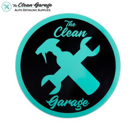 "The Clean Garage Minty Clean Logo Sticker   6.5"" Matte Mint and Black"