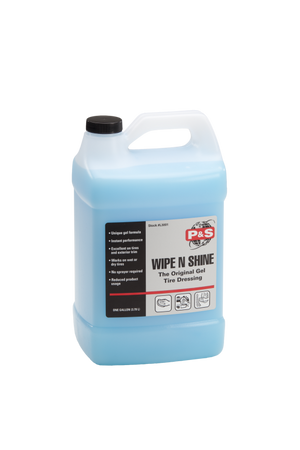P&S Wipe N Shine Tire Dressing Gel 1 Gallon | Apply Wet or Dry