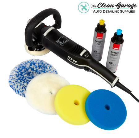 The Clean Garage Rupes Rotary Polisher Starter Kit | Bigfoot LH19E Combo