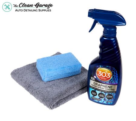 The Clean Garage 303 Graphene Spray Coating Kit | 15.5oz Bottle Towel & Applicator