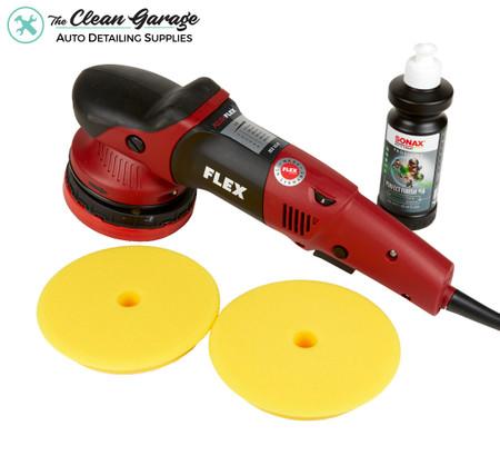 The Clean Garage Flex XFE 7-15 150 Random Orbital Polisher | Kit 1 Pads & Polish