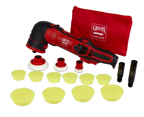 Clean Garage Griot's Garage GR3 Mini Rotary Polisher Kit | 3 Backing Plates 10 Pads