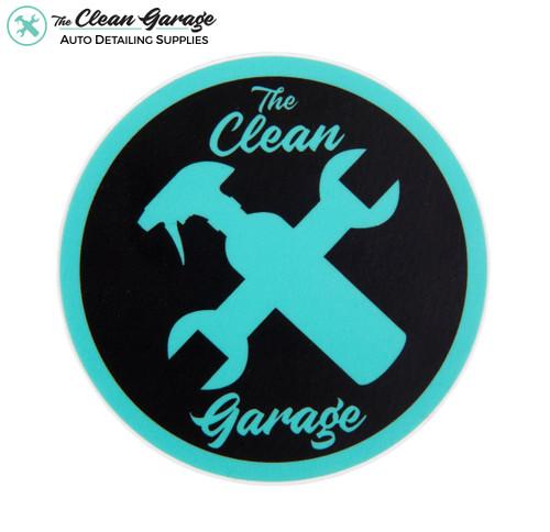 "The Clean Garage Minty Clean Logo Sticker   3"" Matte Mint and Black"