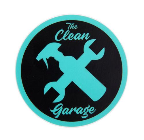 "The Clean Garage Minty Clean Logo Sticker | 3"" Matte Mint and Black"