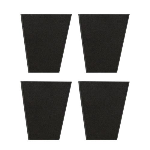 Dirt Lock Bucket Insert Rubber Grip Replacement Pads | Set of 4