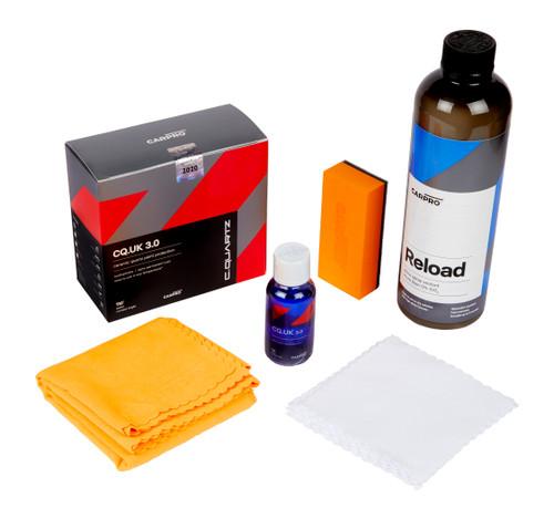 Clean Garage Cquartz UK 3.0 Ceramic Paint Coating Kit 30ml | CarPro Reload 500ml