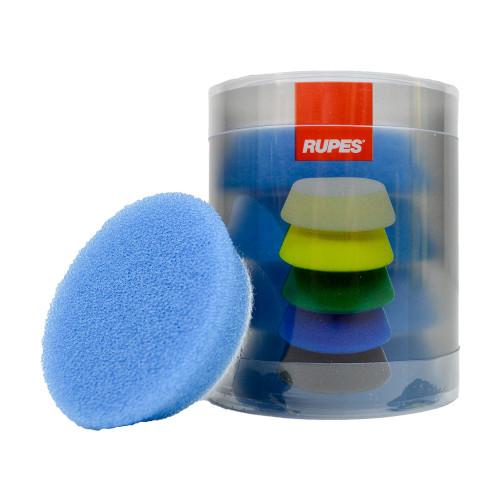 "The Clean Garage 2.75"" Rupes iBrid Nano Pad Blue Foam Coarse | 4 Pack | For 2"" BP"