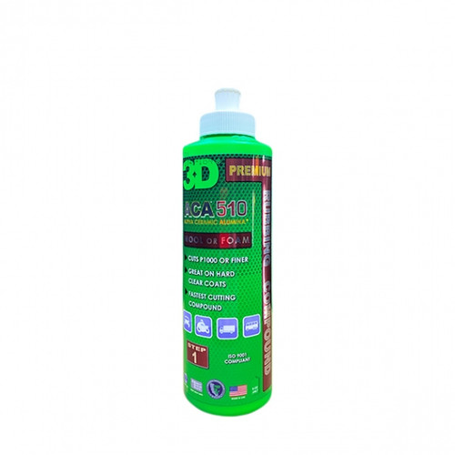 The Clean Garage 3D ACA 510 Rubbing Compound 8oz   Heavy Cutting Body Shop Safe