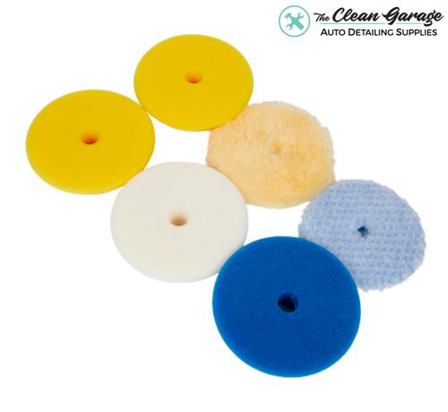 "The Clean Garage Rupes Polishing Pad Kit   6 Pads for 3"" Backing Plate   DA Foam Wool"