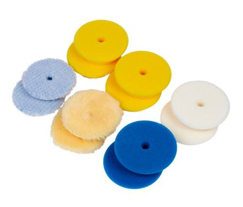"Clean Garage Rupes Polishing Pad Kit   12 Pads for 3"" Backing Plate   DA Foam Wool"