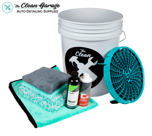 Clean Garage Ceramic Coated Car Maintenance Wash Kit   1 or 2 Buckets