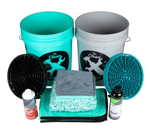 Clean Garage Ceramic Coated Car Maintenance Wash Kit | 1 or 2 Buckets