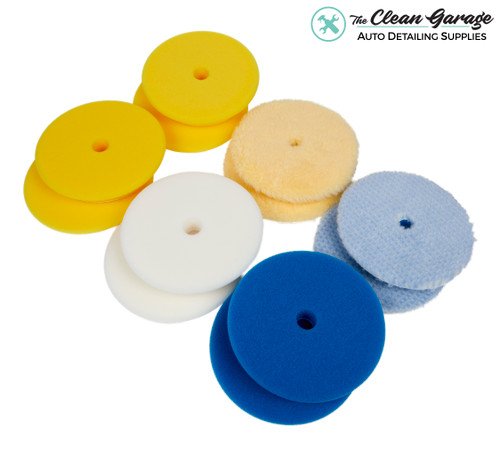 """The Clean Garage Rupes Polishing Pad Kit   12 Pads for 6"""" Backing Plate   Foam Wool"""