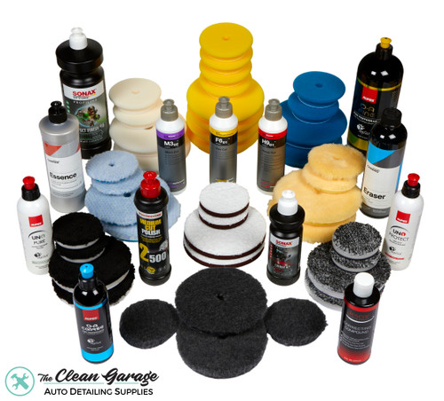 The Clean Garage Ultimate Paint Correction Starter Kit | 53 Item Polishing Combo