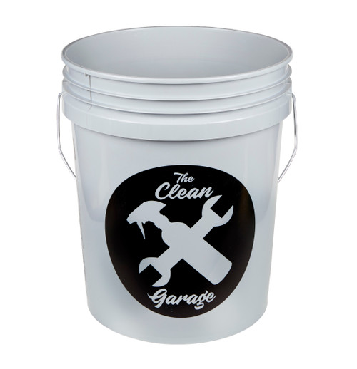 The Clean Garage 5 Gallon Bucket | Gray | Optional Insert and Lid