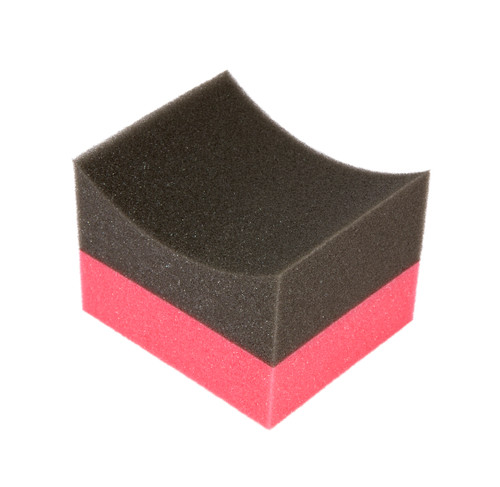 Large Curved Tire Shine and Dressing Applicator | Foam Block