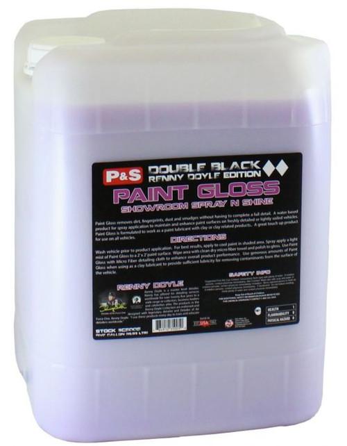 The Clean Garage P&S Paint Gloss 5 Gallon   Double Black Detail Spray