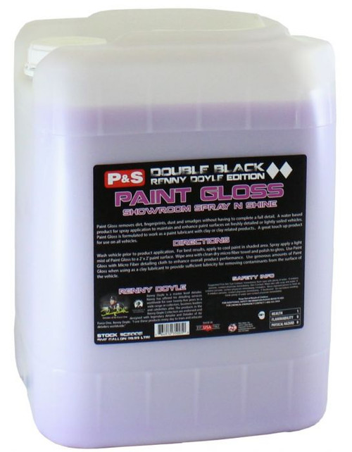 The Clean Garage P&S Paint Gloss 5 Gallon | Double Black Detail Spray