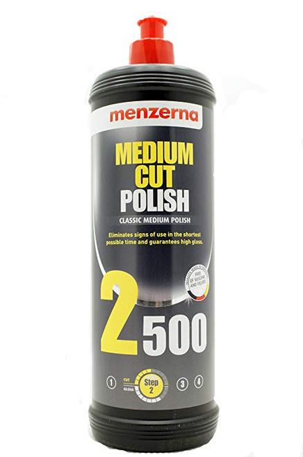 The Clean Garage Menzerna 2500 Medium Cut Polish 32oz   M-2500Q Quart