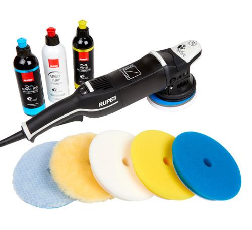 Clean Garage Rupes LHR15 Mark III Polisher Kit | Bigfoot Combo 2 | DA Polish & Pads