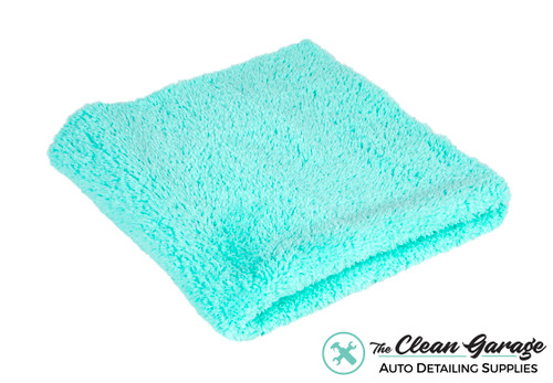 The Clean Garage Plush Edgeless 350 GSM Microfiber Detailing Towel Mint Green   Korean