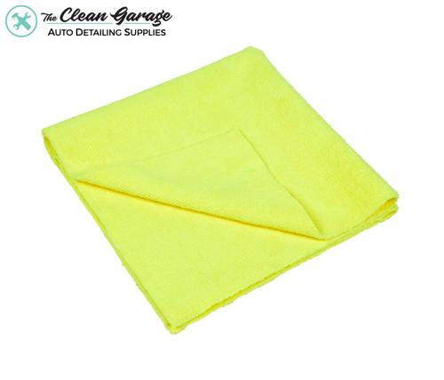 The Clean Garage Yellow All Purpose & Polishing 380 GSM Microfiber Towel | Edgeless 16x16