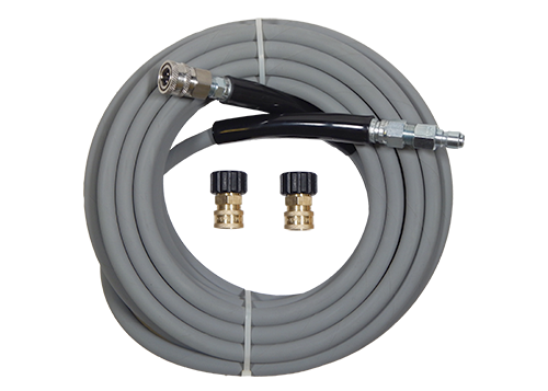 50' Kobrajet Pressure Washer Hose Gray | MTM Pro Kit 5 with Quick Connects