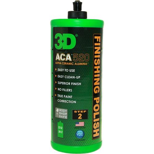 The Clean Garage 3D ACA 520 Finishing Polish 32oz | Body Shop Safe
