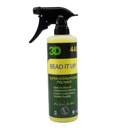 The Clean Garage 3D Bead It Up 16oz | Hydrophobic Ceramic Polymer Spray