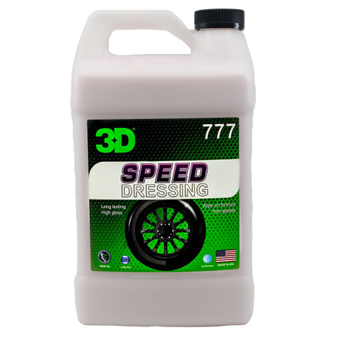 The Clean Garage 3D Speed Dressing 1 Gallon | High Gloss Rubber and Tire Shine
